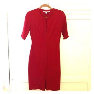 Diane Von Furstenberg red midi dress size 6